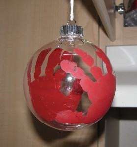 Handprint Christmas Ornaments – Another Fun Gift « Ally\'s Helpful ...