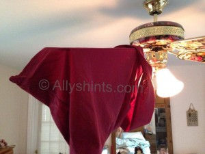 pillow case cleans ceiling fan